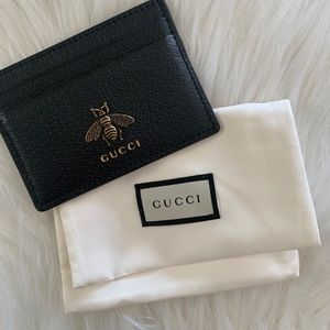 AUTHENTIC GUCCI Animalier leather card Wallet